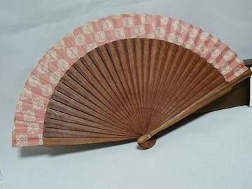 正規レア LOEWEロエベ アマソナ アナグラム ロゴ扇子 ブラウン×ピンク×ホワイト 兼用