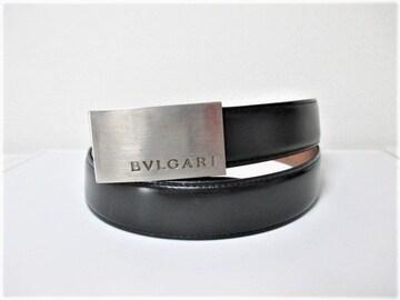 ☆BVLGARI ブルガリ レザー バックル ベルト ビジネスベルト/メンズ☆102cm