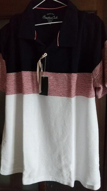 3Lサイズ!タオル生地見たいソフトな着心地スラブタック天竺パネルライン半袖ポロシャツ! < 男性ファッションの
