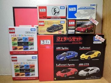 1スタ★トミカ10台外国車セット★フェラーリ/ランボルギーニ/アウディ/メルセデス★