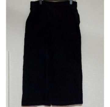 黒コーデュロイロングスカート