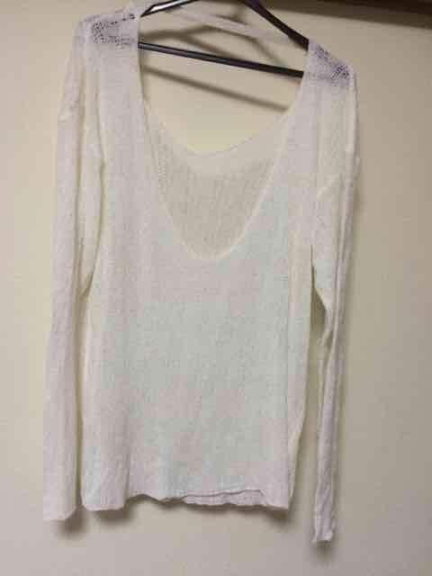 H&M/サマーニット/ホワイト  < 女性ファッションの