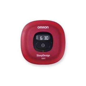 ★OMRON HSL-004T 睡眠計 ねむり時間計 レッド