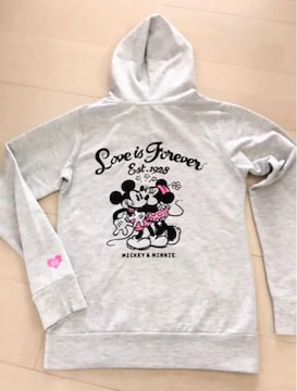 美品  Disney Mickey&Minnie  パーカー