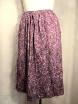 【TSUNODA】【フランス製】プリントチュールスカートです