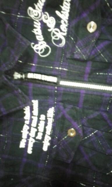 BA−TSUロゴ入りシャツジャケット160 < キッズ/ベビーの