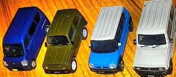 1/64スズキ自動車関連ガチャ4種類