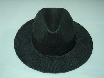 帽子 ハット紙ストローパナマペーパー中折れイタリア製L 58-59cm