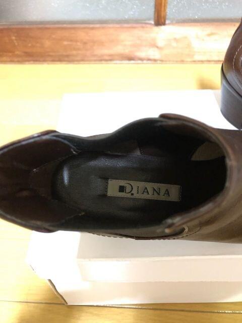 ★DIANA(ダイアナ)★ショート●ベルト付レザーブーツ♪茶 < ブランドの