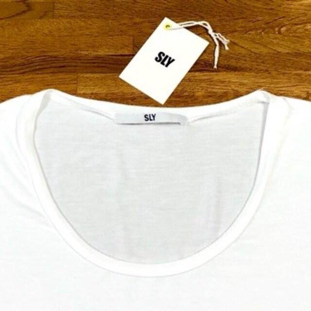 美品 SLY スライ ベーシックロンT 白 ホワイト < ブランドの