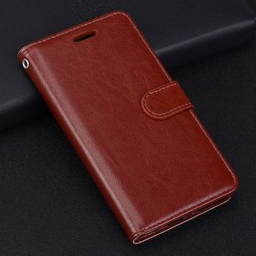 iPhone7 8 手帳型ケース レザー 液晶フィルム フォトフレーム 茶