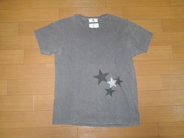エム M × FOURHANDラインストーンTシャツ Mカットソー☆星TMT