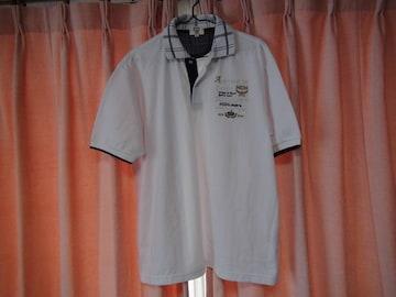 MCMのポロシャツ(L)白!。