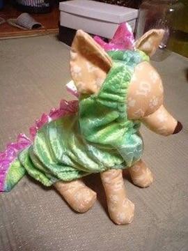 新品恐竜着ぐるみグリーン2号
