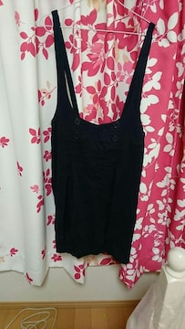 大きいサイズLLサイズネイビージャンバースカート新品タグ付きシワありウエスト77〜85