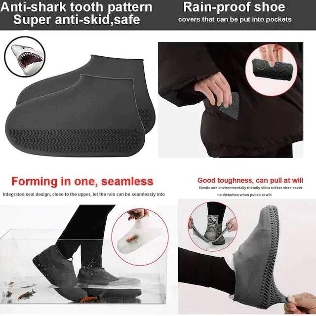 限定割引690円★超人気 シリコーン防水滑り止め靴カバー < 男性ファッションの