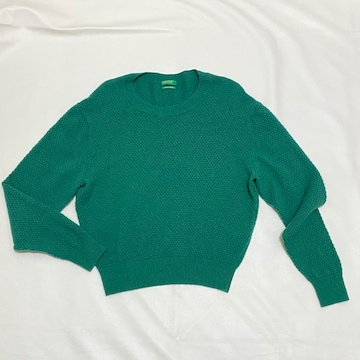 ベネトン カシミア混セーター グリーン #XS