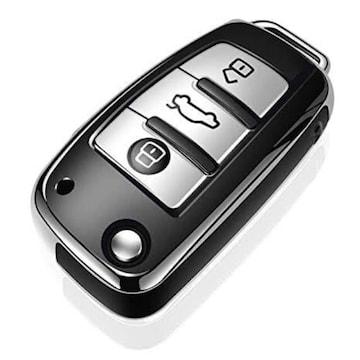 色シルバー Audi適用アウディキーケースキーホルダー アウディA