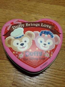 新品ディズニースウィートダッフィーシェリーメイキャンディーハート缶容器