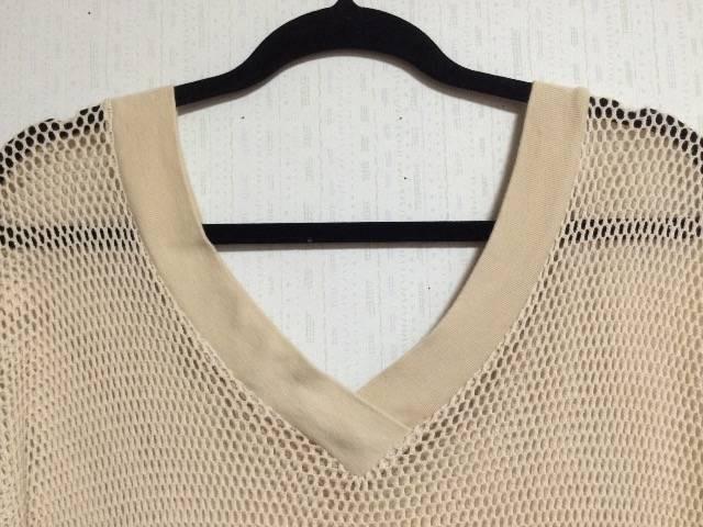 五分袖◆サマーニット ドルマン袖 Vネック サイズM ベージュ < 女性ファッションの