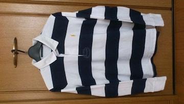 激安84%オフラルフローレン、長袖ポロシャツ、ラガーシャツ(新品、紺白、XL)