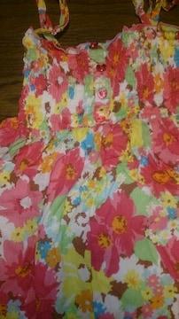 LIZLISA☆リゾート花柄マキシワンピ☆ピンク☆バンダナ付き☆新品同様