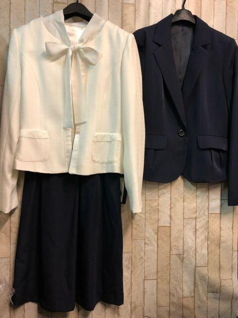新品☆9号♪オフホワイト系のフォーマルスーツ3点セット☆b532  < 女性ファッションの