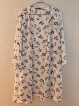 ...150cm/花柄ロングシャツ...