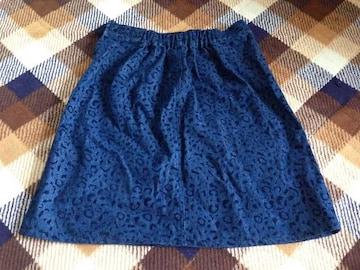 デニムヒョウ柄ひょう柄スカート