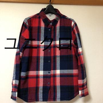 ユニクロ チェックシャツ裏地フリースMサイズレターパック520