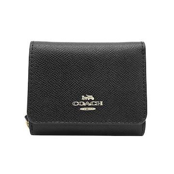 ◆新品本物◆コーチ スモール トライフォールド 3つ折財布(BK)『F37968』◆