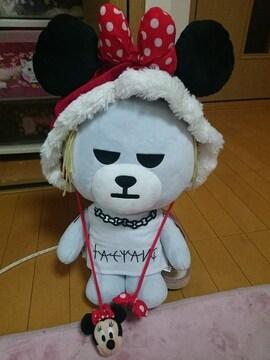 ディズニー購入ミニーちゃんミニーマウス帽子かぶり物頭58センチフード