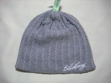 wb180 女 BILLABONG ビラボン ニット帽 グレー