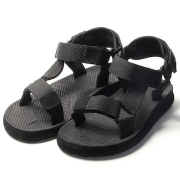 新品未使用 スポーツサンダル メンズ ブラック 黒色 超軽量