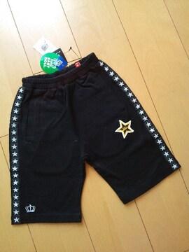 新品★ラインハーフパンツ120黒ベビードールBABYDOLLベビド