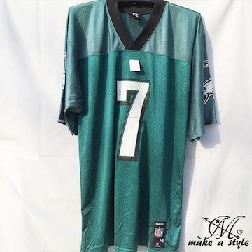 NFL フットボールシャツ Eagles 7 vick グリーン REEBOK XL 693
