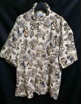 セール入荷ユニーク総柄ビッグシルエット柄シャツ個性シャツ