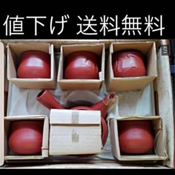 高級日本茶器 常滑焼 急須 湯飲み5客 未使用