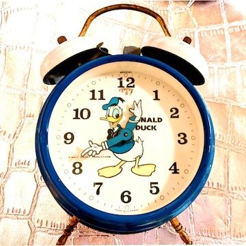 80年代 ドナルド ネジ巻き 目覚まし時計 ディズニー ビンテージ