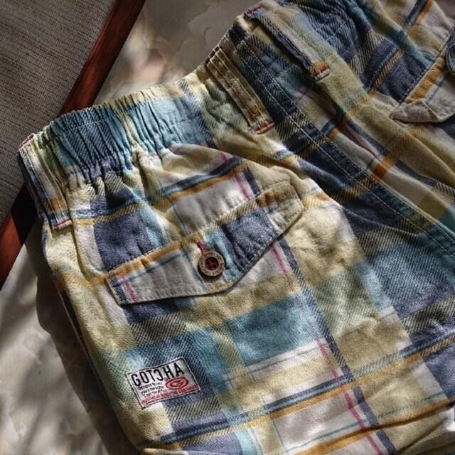 【値下げ不可】 極美品!!men's チェック柄 ハーフパンツ  M < 男性ファッションの