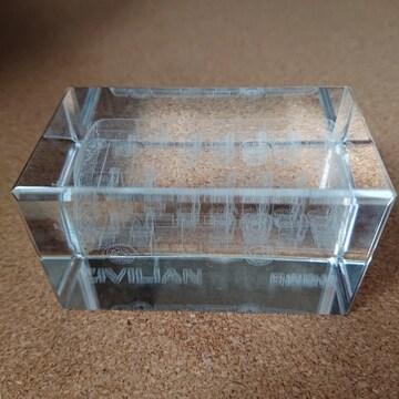 3Dクリスタルガラスペーパーウェイト/日産シビリアン