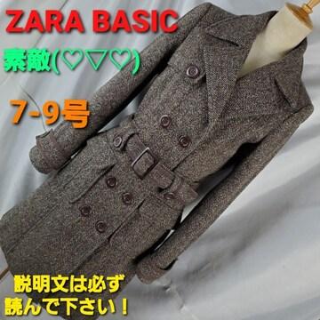 送料込み★345★ZARA BASIC☆オシャレコート★7-9★