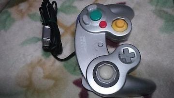 ゲームキューブ コントローラー シルバー 動作確認済
