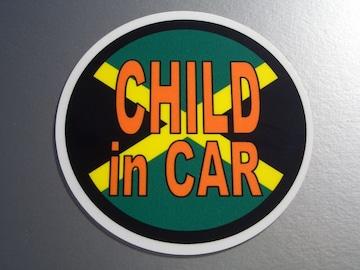 CHILD IN CARジャマイカ国旗ステッカー○レゲエKIDS
