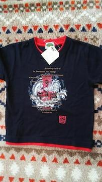*新品☆110�p・ドラゴン柄半袖Tシャツ*