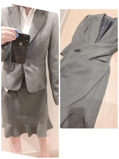 断捨離♪グレーのスカートスーツ(*^_^*)  < 女性ファッションの