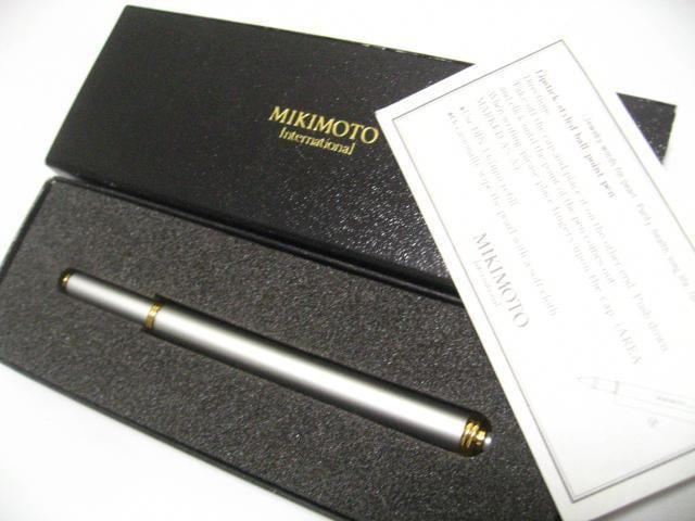 真珠の名門MIKIMOTOミキモトの最高に美しいレディースボールペン未使用レベル