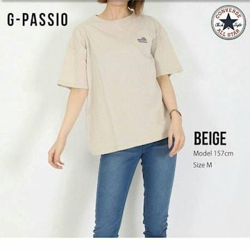 新品CONVERSE半袖Tシャツ未使用コンバース*レディース*ベージュ