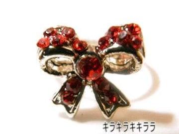 《New》ageha掲載★エタニティリボン・リング/指輪<レッド>【箱付】