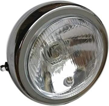[マローサム] バイク 用 汎用 ヘッドライト レンズ径 130mm